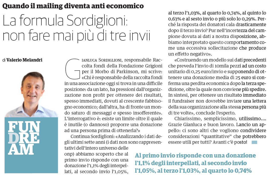 Valerio Melandri Articolo Philanthropy n 40