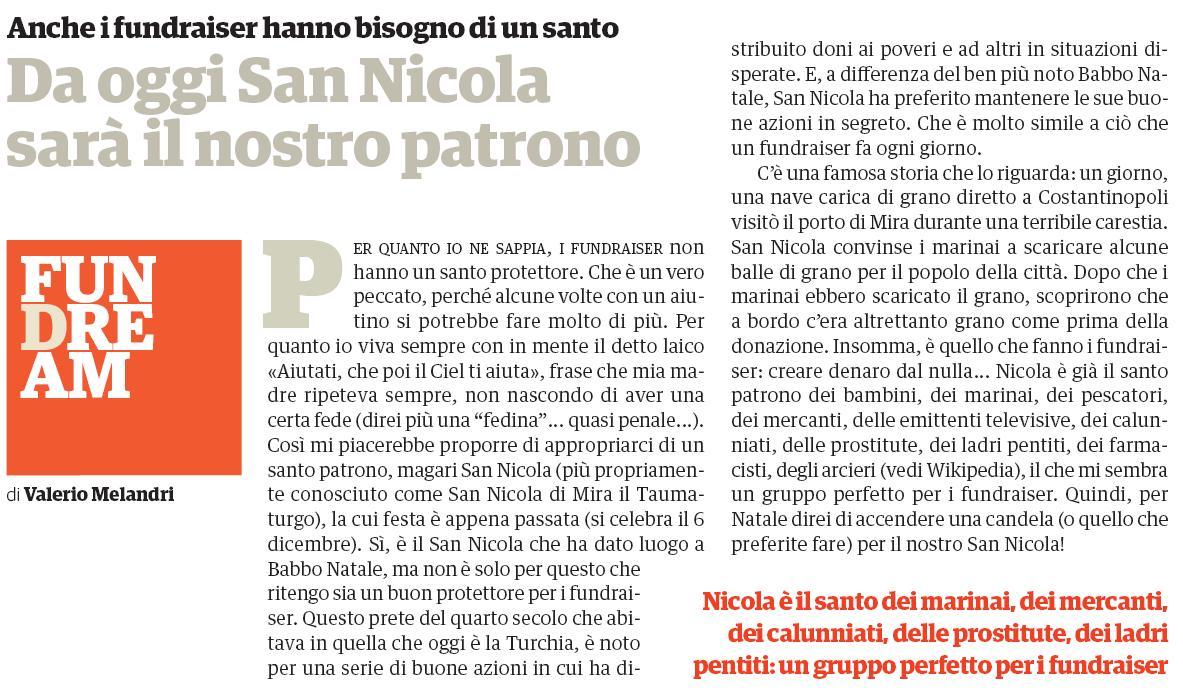 Valerio Melandri Articolo Philanthropy n 50