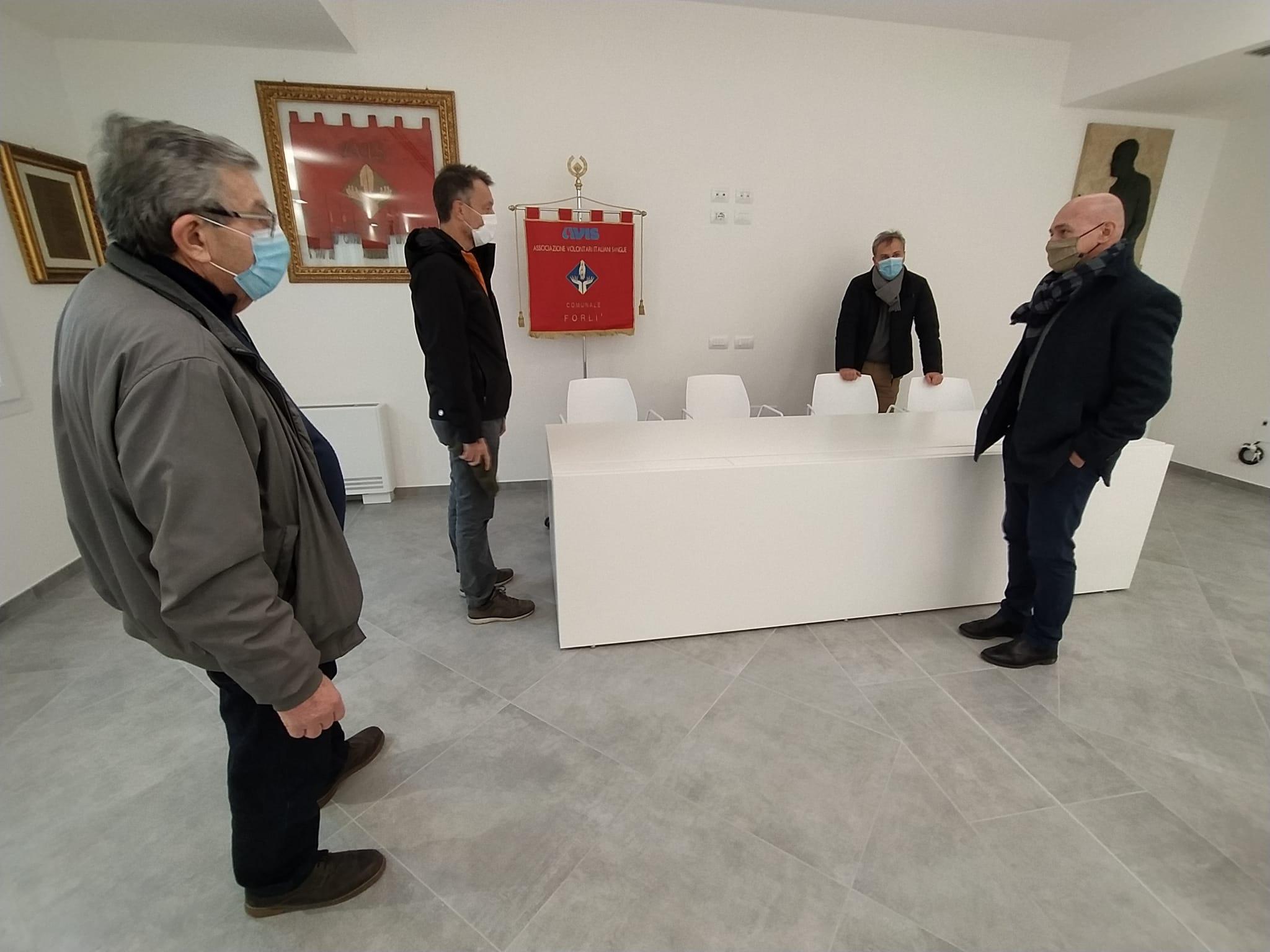 La sala riunioni nella palazzina Avis da dove sarà possibile trasmettere in streaming